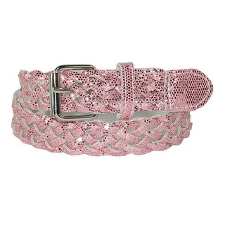 CTM® Girls' Metallic Braided Belt