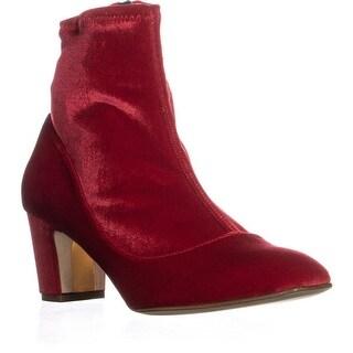 Rupert Sanderson Fernie Ankle Boots, Sangria Velvet