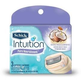 Schick Intuition Pure Nourishment with Coconut Milk & Almond Oil Razor Refills 3 ea