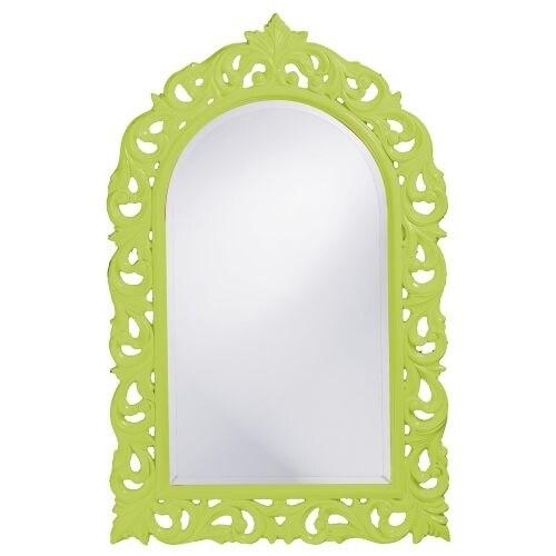 "Howard Elliott 2058MG Orleans 47"" x 30"" Glossy Moss Green Mirror"