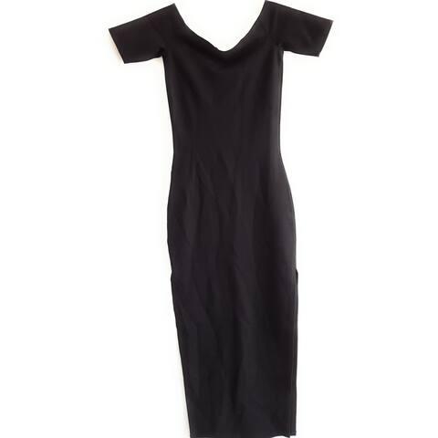 Kendall Kylie Women's Short Sleeve Dress, Black, X-Small