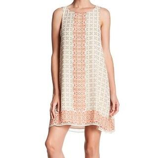 Max Studio White Ivory Womens Size Small S Chiffon Shift Dress