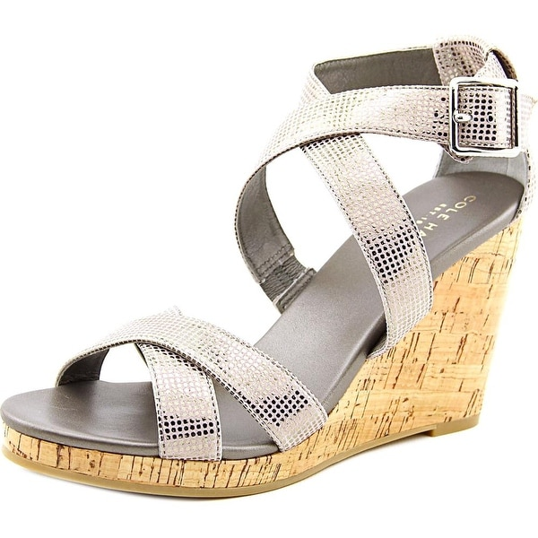 Cole Haan Jillian Wedge   Open Toe Leather  Wedge Heel
