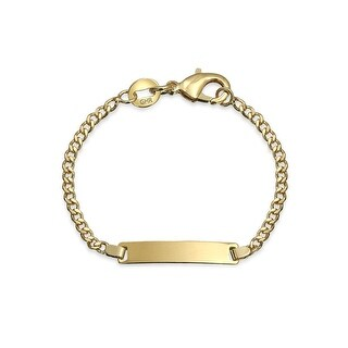 Bling Jewelry Gold Filled Childrens Baby ID Bracelet 5in