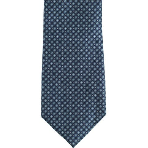 Kenneth Cole Mens Pebble Self-tied Necktie, blue, One Size - One Size
