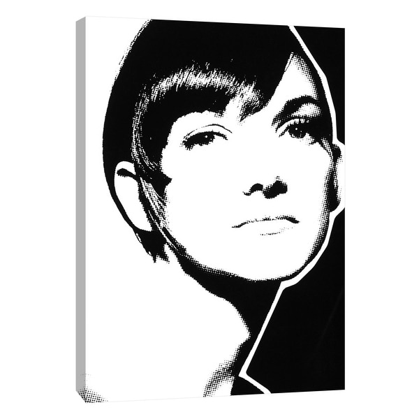 """PTM Images 9-105334 PTM Canvas Collection 10"""" x 8"""" - """"Glamour Style"""" Giclee Audrey Hepburn Art Print on Canvas"""