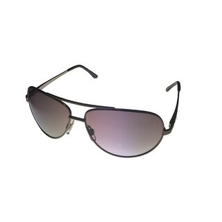 Ellen Tracy Womens Sunglass ET518 1 Gunmetal Metal Avaitor, Smoke Gradient Lens - Medium