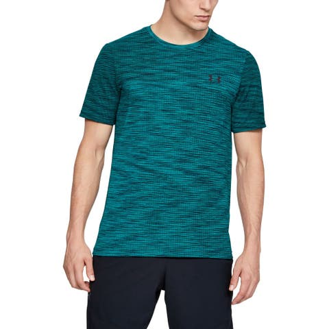 Under Armour Mens Activewear Green Size Small S Seamless Vanish Tee