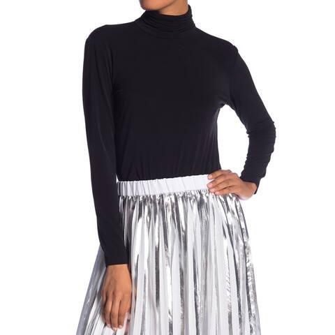 Catherine Malandrino Women's Black Size Medium M Mock Neck Blouse