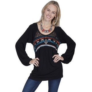 Scully Western Shirt Womens Long Sleeve Embroidered Pullover E265