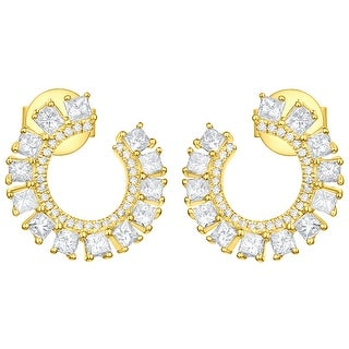Prism Jewel 1.19Ct G-H/SI1 & I1 Natural Diamond Open Twisted Circle Earring - N/A (More options available)