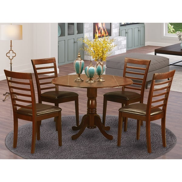 Dining Room Table set - Kitchen Table and Dining Room Chairs - Mahogany Finish (Pieces Option). Opens flyout.