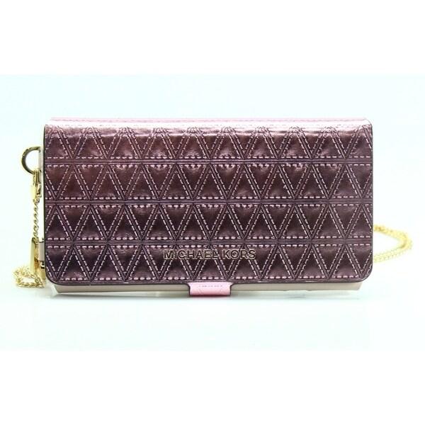 b989fa34616e Shop Michael Kors NEW Pink Iphone 7 Plus Folio Case Crossbody Bag ...