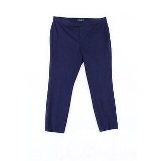 Lauren Ralph Lauren NEW Navy Blue Womens Size 14 Straight Dress Pants