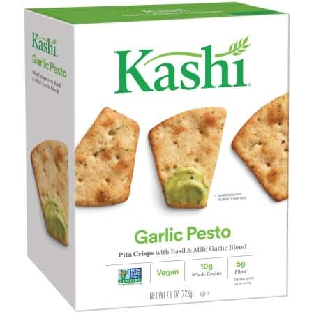Kashi Pita Crisps Garlic Pesto - Pita Crisps - Case of 12 - 7.9 oz.
