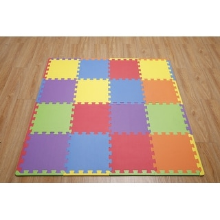 "Link to Ottomanson Soft EVA Foam Mat Flooring Tiles, Multicolor, 16 PC, 12""x12"" - Multicolor Similar Items in Fitness & Exercise Equipment"