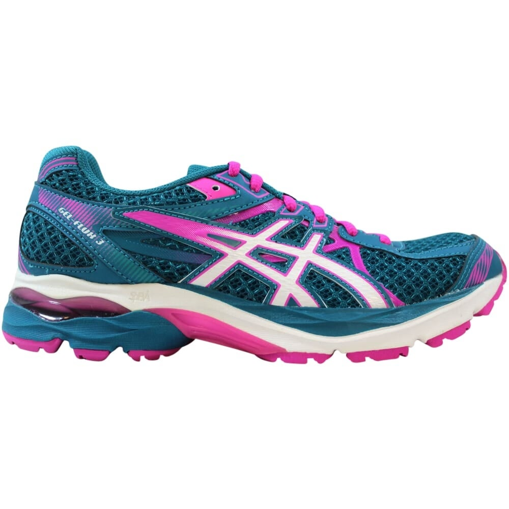 Asics Gel Flux 3 Womens Size 7.5 Running Shoe T664N Lace Up Athletic Shoes