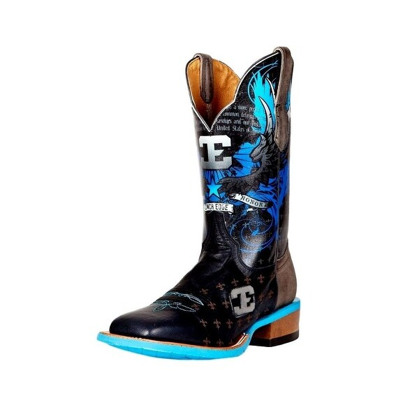 Cinch Western Boots Mens Edge Warrior Cowboy Toe Black