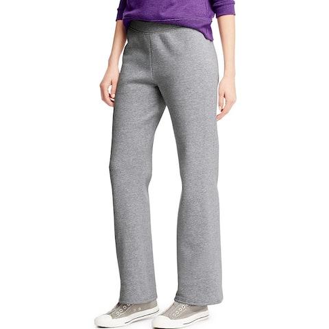 Hanes ComfortSoft ; EcoSmart® Women's Open Leg Fleece Sweatpants - Size - M - Color - Light Steel