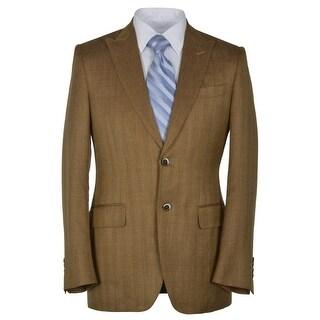 Canali Slim Fit Rust Herringbone Two Button Sportcoat 44 Regular 44R