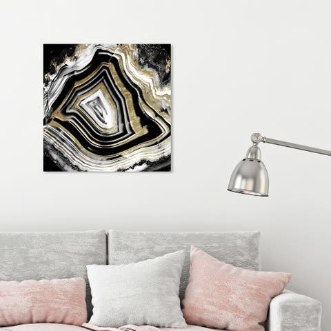 Oliver Gal 'Void and Full of Light' Abstract Wall Art Canvas Print Geode Crystals - Gold, Black