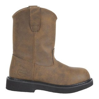 Georgia Boot Children's G100 Adolescent Pull-On Boot Brown