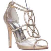 Caparros Ellen Rhinestone Strappy Dress Sandals, Gold Metallic