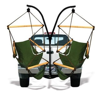 Hammaka Anywhere & Portable Trailer Hitch Stand w/ Cradle Chair Combo - Green