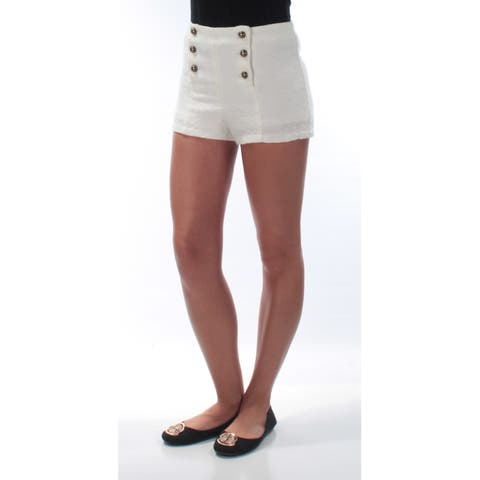 DISNEY Womens Ivory Buttoned up Short Size: S