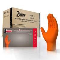 1st Choice Premium Orange Nitrile Ind Latex Free Disposable Gloves
