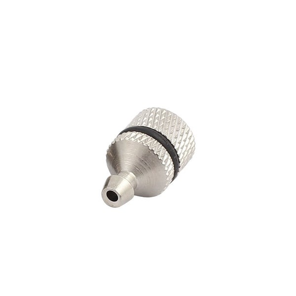Car Straight Metal Hydraulic Grease Nipple Silver Tone for 4.5mm Dia. Pipe