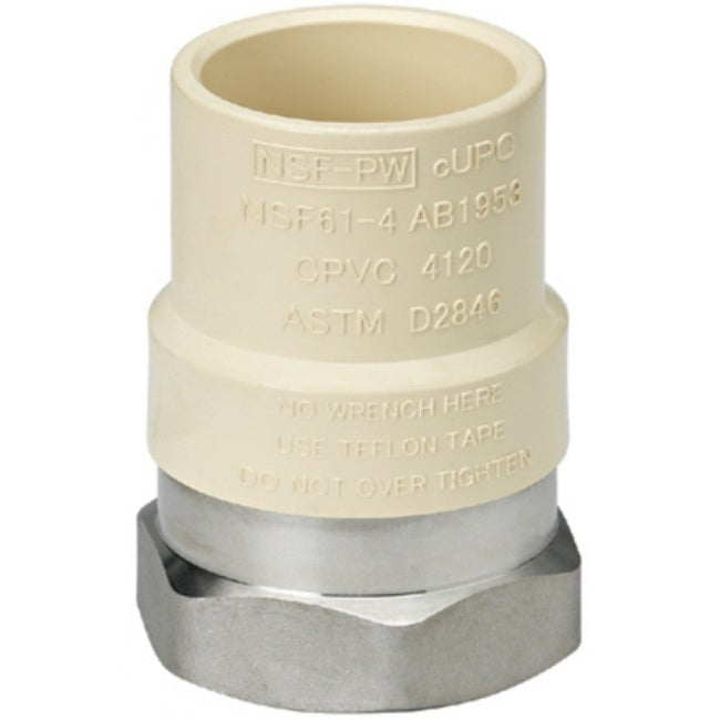 Homewerks 541-12-12-B Stainless-Steel & CPVC Transition Adapter, 1/2 FIP