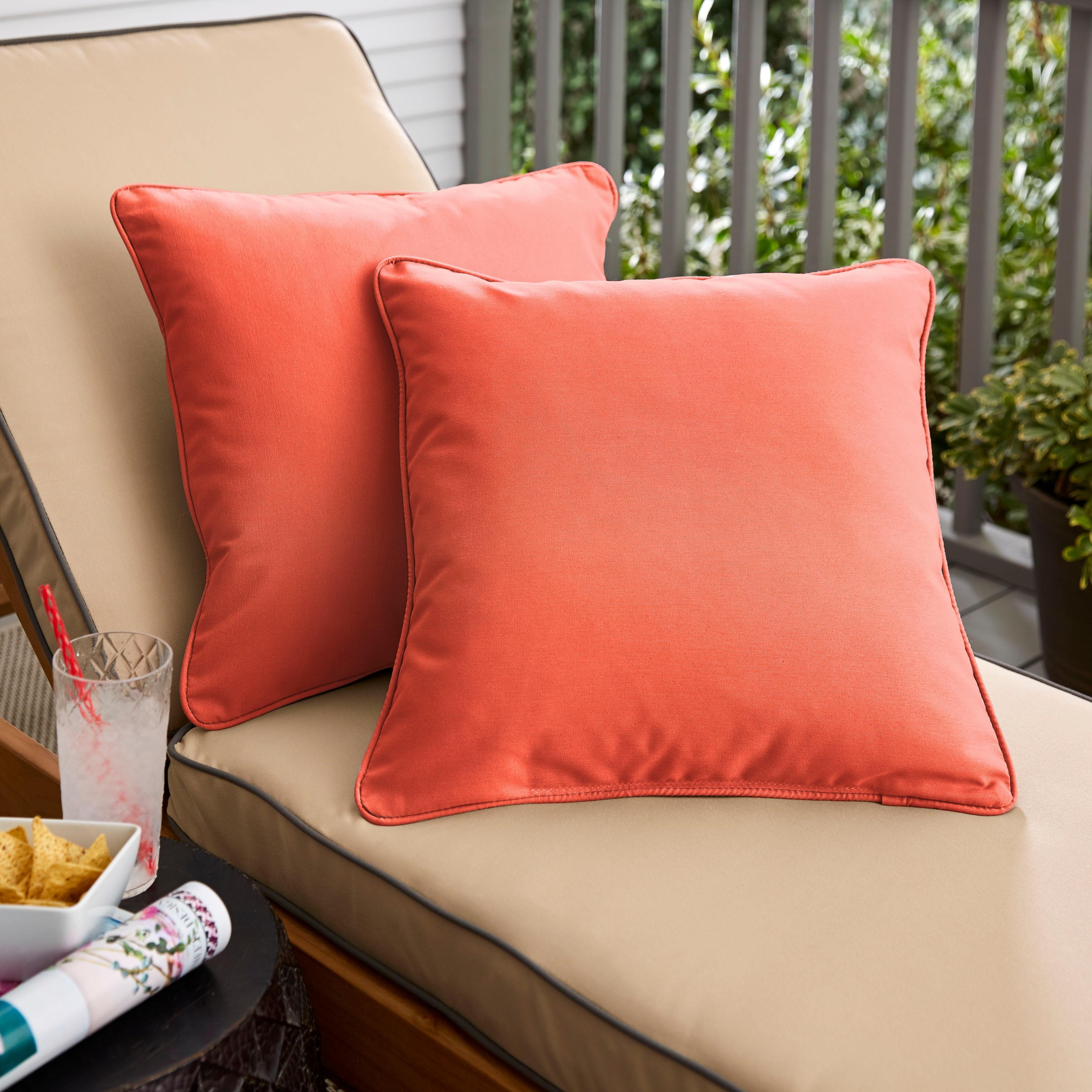 Sunbrella Canvas Melon Corded Indoor/ Outdoor Pillow Set Set of 20