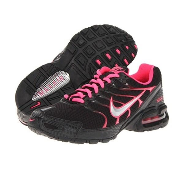 Femmes Nike Torche Air Max 4 Chaussure De Course Mitaines Noir / Rose