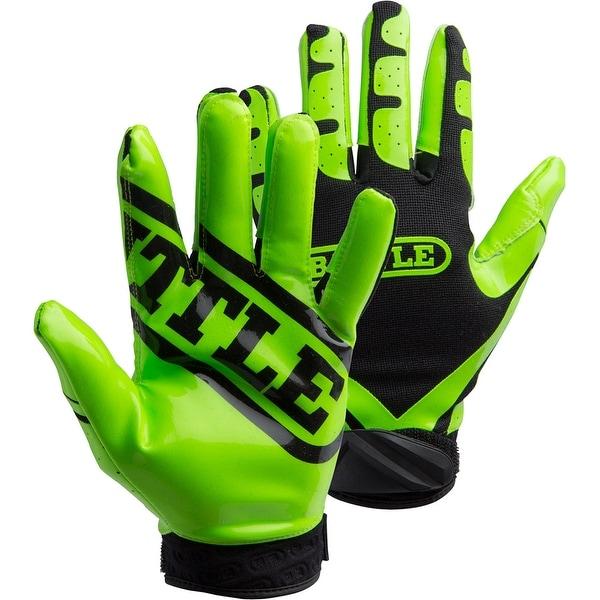 Battle Sports Science Receivers Ultra-Stick Football Gloves - Neon Green/Black. Opens flyout.