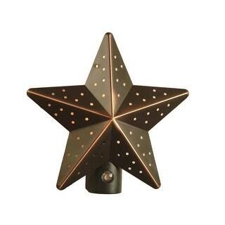 Amertac 75050VB Tin Star Automatic Night Light, 7 Watts, 120 Volt