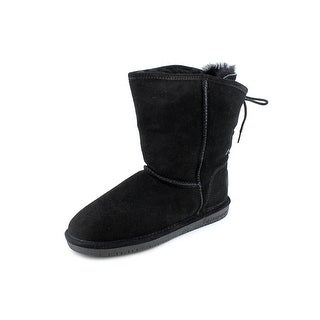 Bearpaw Elizabeth Women Round Toe Suede Black Winter Boot