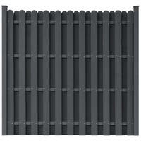 vidaXL WPC Fence Panel Square Gray