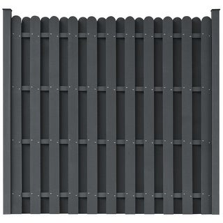 vidaXL WPC Fence Panel Square Gray