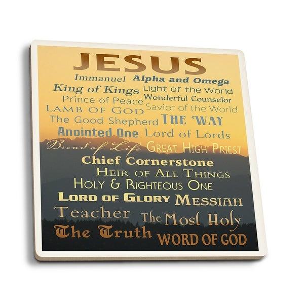 Names of God - Inspirational - LP Artwork (Set of 4 Ceramic Coasters)