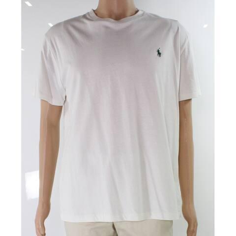 Polo Ralph Lauren Mens T-Shirt White Ivory Size Medium M Tee Crew