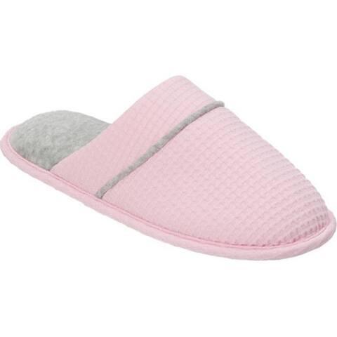 49afc3204d52 Dearfoams Women s Textured Knit Scuff Fresh Pink