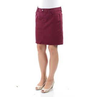 TOMMY HILFIGER Womens New 1245 Maroon Above The Knee A-Line Casual Skirt 10 B+B