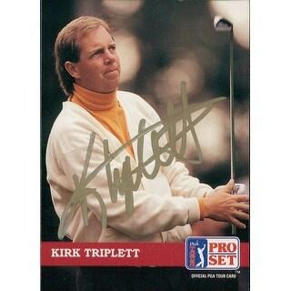 Signed Triplett Kirk 1992 Pro Set Golf Card autographed