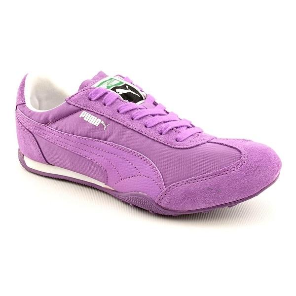 Puma 76 Runner Fun Women Round Toe Suede Purple Sneakers