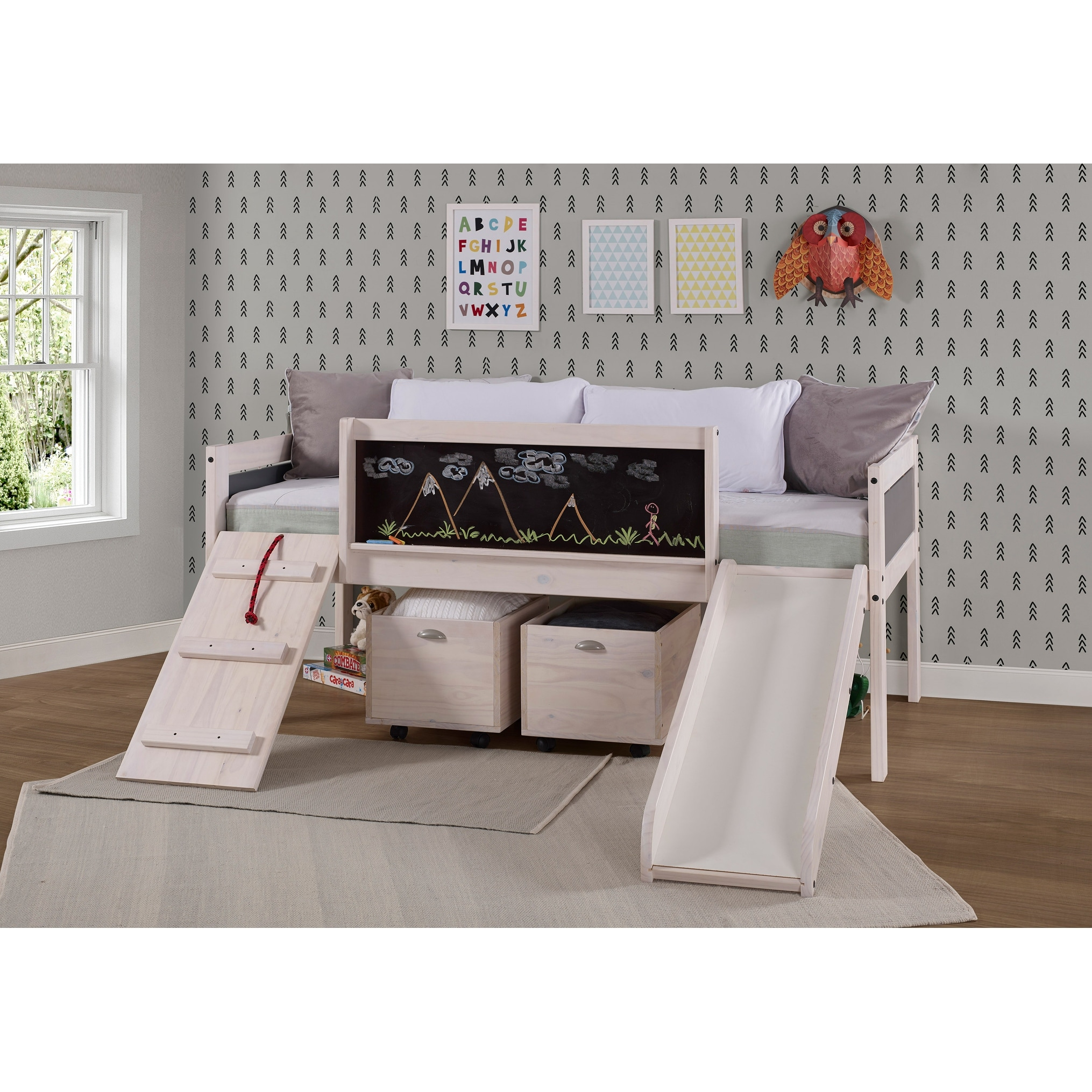 Picture of: Taylor Olive Gardenia White Wash Twin Low Loft Bed On Sale Overstock 28167494 Twin Loft Bed Only