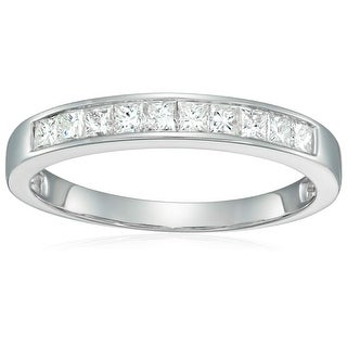 1/2 cttw Princess Wedding Band 14K White and Yellow Gold
