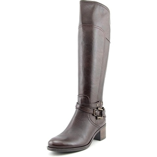 Marc Fisher Kacee Round Toe Leather Knee High Boot