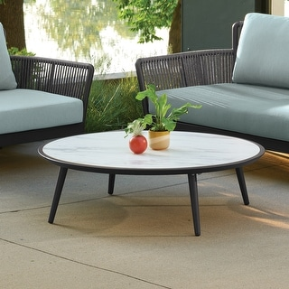 Link to Enna Carbon Coffee Table by Havenside Home Similar Items in Outdoor Coffee & Side Tables