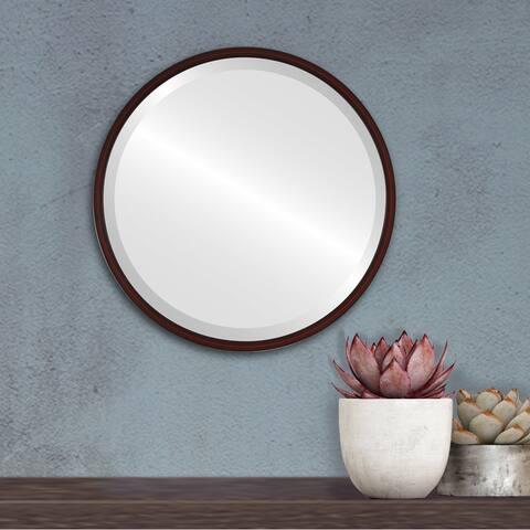 London Framed Round Mirror - Black Cherry - Black Cherry